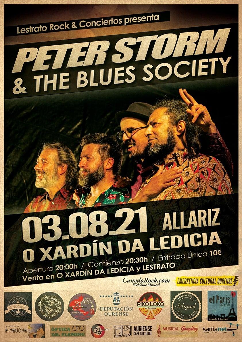 Peter Storm & The Blues Society en Allariz